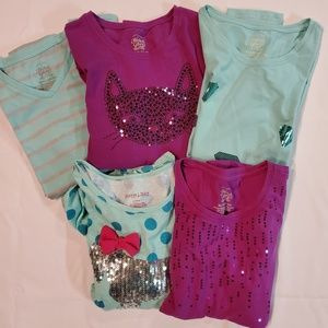 Bundle of 5 Girls BNWOT Long Sleeve Shirts